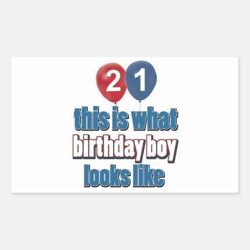 21st year birthday designs sticker