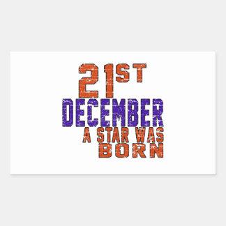 21th December a star was born Rectangular Sticker