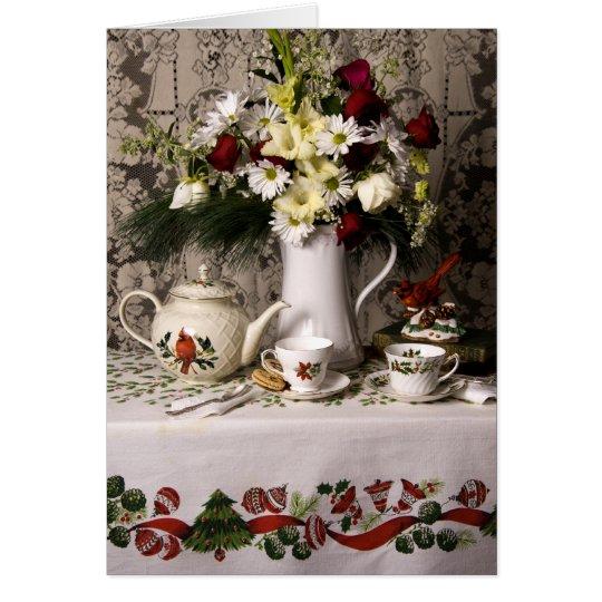 2209 Teatime Floral Still Life Birthday Card