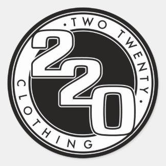 220 Clothing Logo Round Sticker