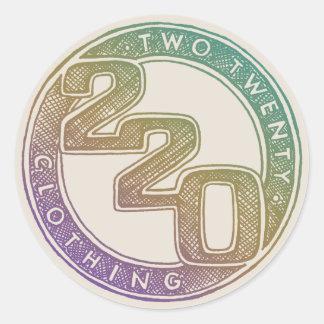 220 Clothing - Sketch Round Sticker