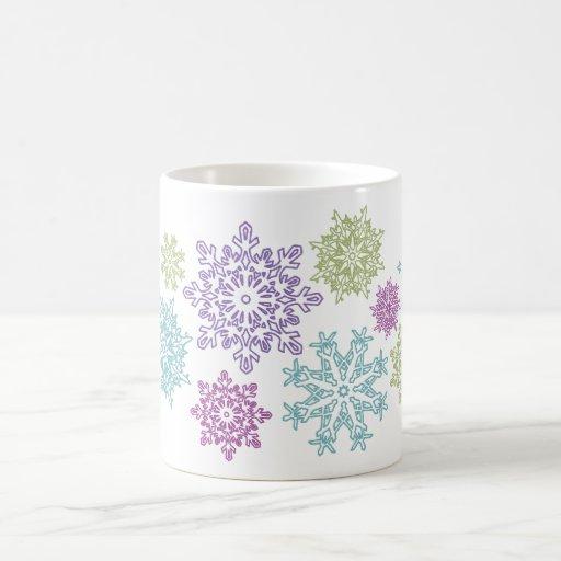 220 Multi Snowflake Mug