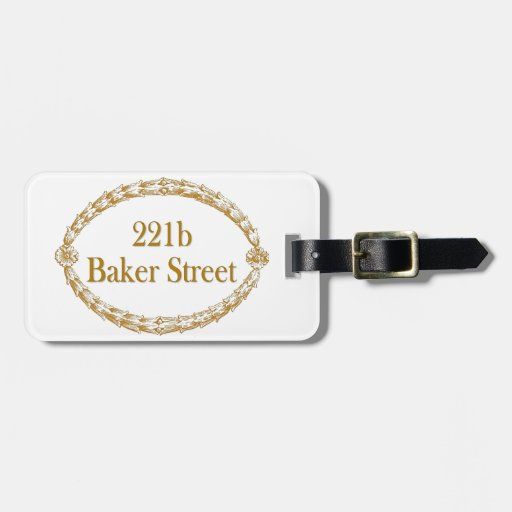 221b Baker Street Tag For Bags