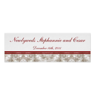 """22.5""""x7.5"""" Personalized Banner Winter Blur Poster"""