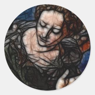 22 - Black Touch Round Sticker