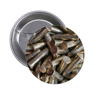 22 Caliber Bullets 6 Cm Round Badge