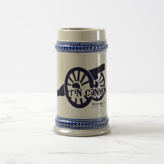 22 oz Tin Cannon Beer Stein