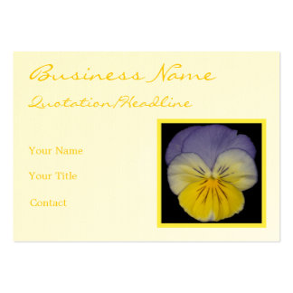 22 Pansy Blue Yellow Pack Of Chubby Business Cards