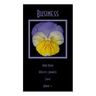 22 Pansy Blue Yellow Pack Of Standard Business Cards