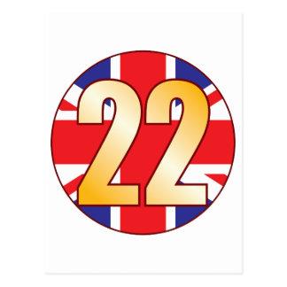 22 UK Gold Postcard