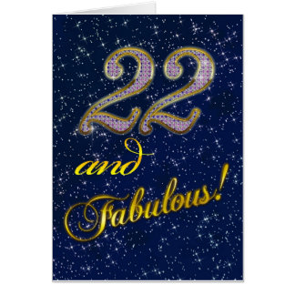 22nd birthday for someone Fabulous Greeting Card