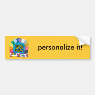 22nd Birthday Gifts with Assorted Balloons Design Bumper Stickers