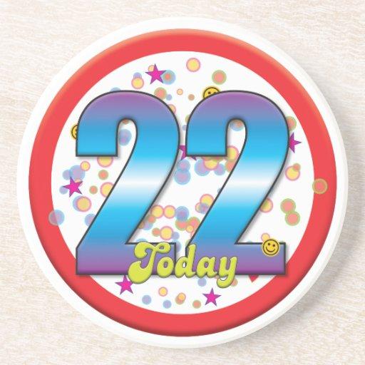 22nd Birthday Today v2 Beverage Coaster