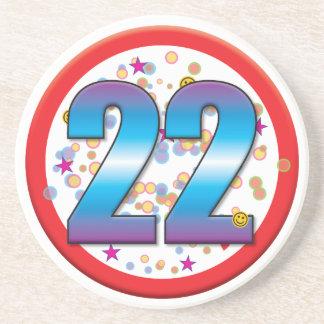 22nd Birthday v2 Beverage Coaster