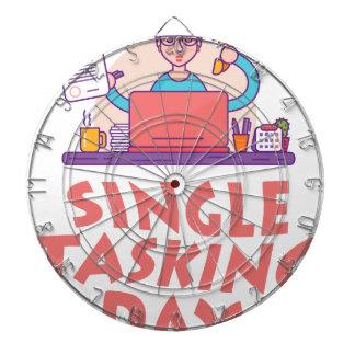 22nd February - Single Tasking Day Dartboard