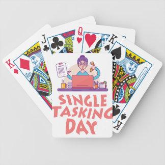 22nd February - Single Tasking Day Poker Deck