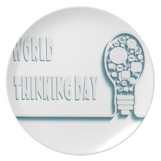 22nd February - World Thinking Day Plate