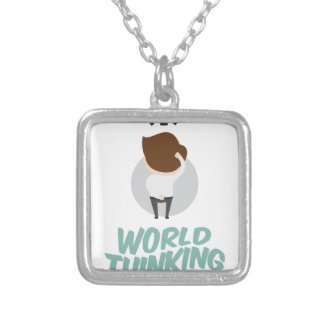 22nd February - World Thinking Day Silver Plated Necklace