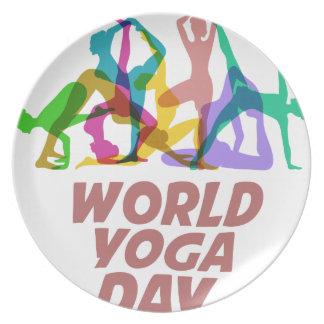 22nd February - World Yoga Day Plate