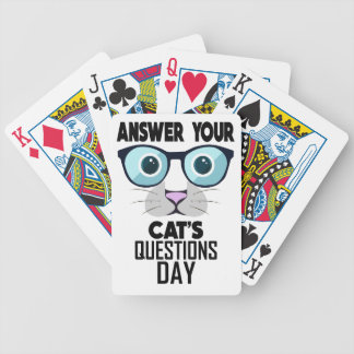 22nd January - Answer Your Cat's Questions Day Bicycle Playing Cards
