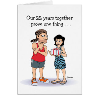 22nd Wedding Anniversary Card: Love