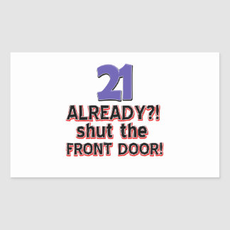 22th birthday designs rectangle stickers