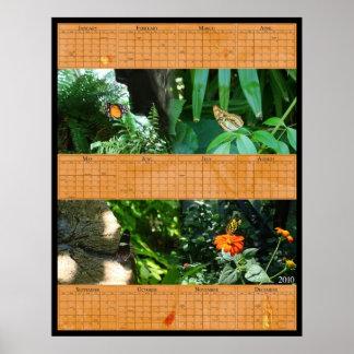 22x28 Butterfly Calendar Print