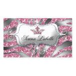232 Sparkle Jewellery Business Card Zebra Crown