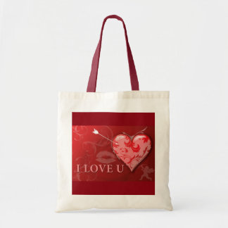 238920 RED LOVE YOU HEARTS KISSES ANNIVERSARY MARR TOTE BAG