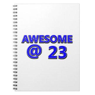 23  birthday design spiral notebook