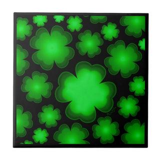 23 Four Leaf Clovers Ceramic Tile