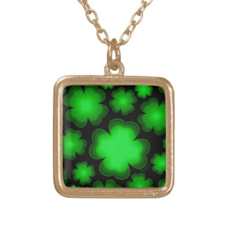 23 Four Leaf Clovers Gold Plated Necklace