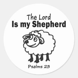 23 Psalm Round Sticker