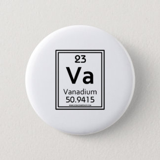 23 Vanadium 6 Cm Round Badge