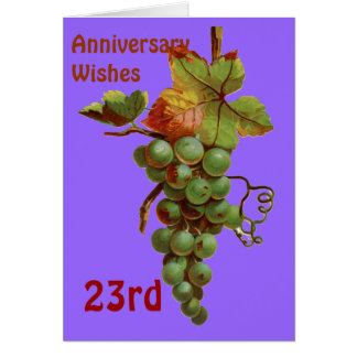 23rd Anniversary wishes, customiseable Greeting Card
