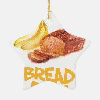23rd February - Banana Bread Day Ceramic Ornament