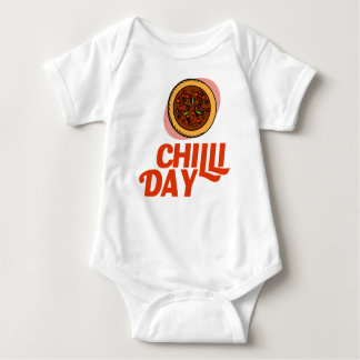 23rd February - Chilli Day - Appreciation Day Baby Bodysuit