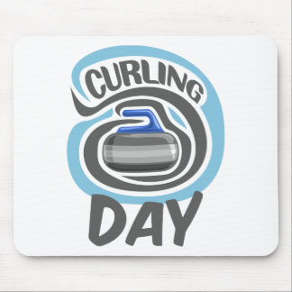 23rd February - Curling Is Cool Day Mouse Pad
