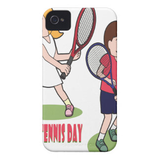 23rd February - Play Tennis Day - Appreciation Day iPhone 4 Cases