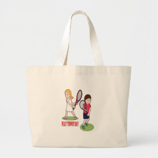 23rd February - Play Tennis Day - Appreciation Day Large Tote Bag