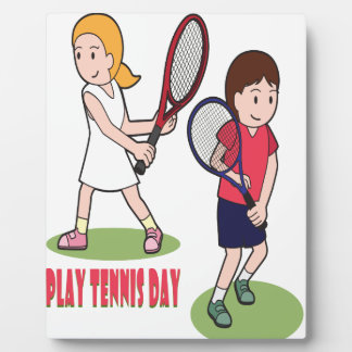 23rd February - Play Tennis Day - Appreciation Day Plaque