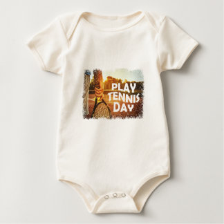 23rd February - Play Tennis Day Baby Bodysuit