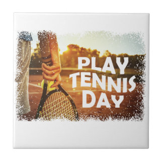 23rd February - Play Tennis Day Ceramic Tile