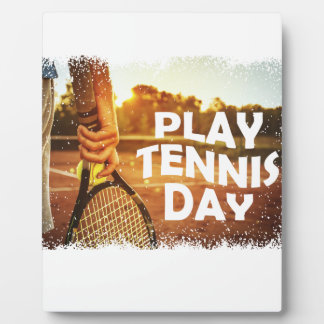 23rd February - Play Tennis Day Plaque