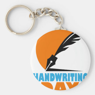 23rd January - Handwriting Day Basic Round Button Key Ring