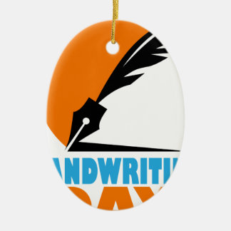 23rd January - Handwriting Day Ceramic Ornament