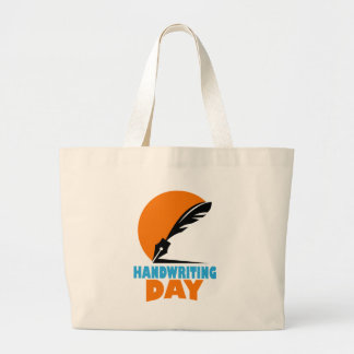23rd January - Handwriting Day Large Tote Bag