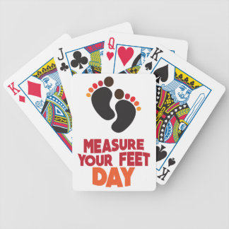 23rd January - Measure Your Feet Day Bicycle Playing Cards