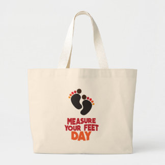 23rd January - Measure Your Feet Day Large Tote Bag