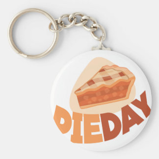 23rd January - Pie Day - Appreciation Day Basic Round Button Key Ring